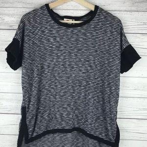 One Clothing Black White Knit Top Size Medium